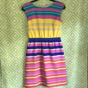 Bright and Beautiful Striped LOFT Dress